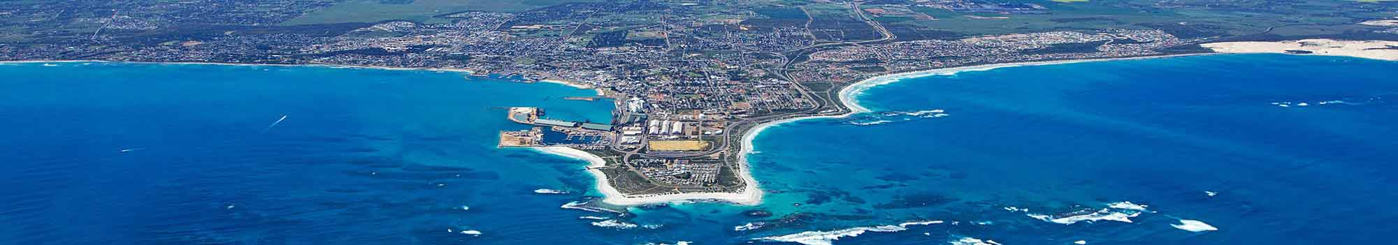 Aerial Image of the city of Geraldton Western Australia