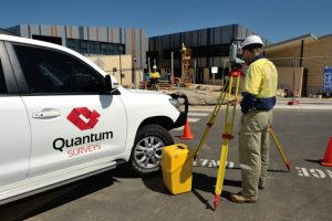 Surveyor, Daniel Welsh doing a site survey in Geraldton